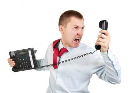 Salesman on the Phone