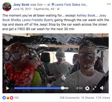 car wash social selling car dealer