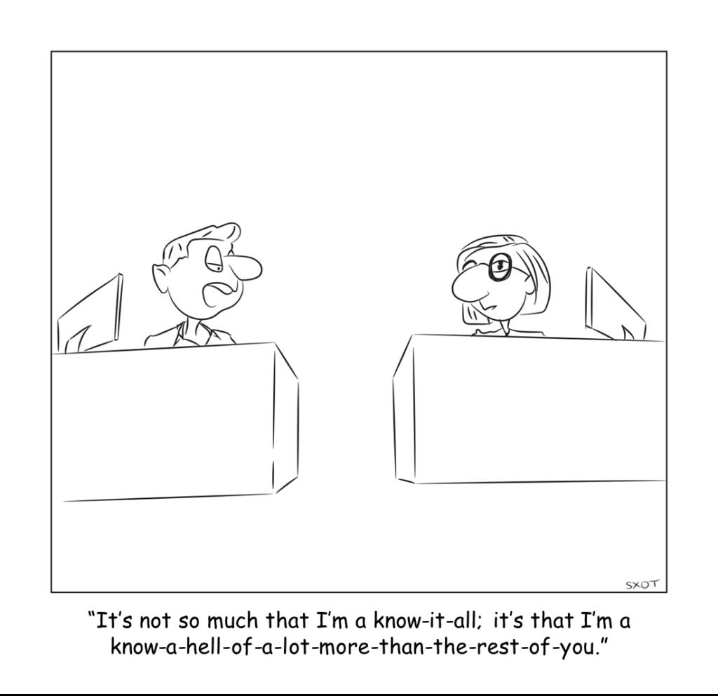 cartoon Be The Expert; Not The Asshole