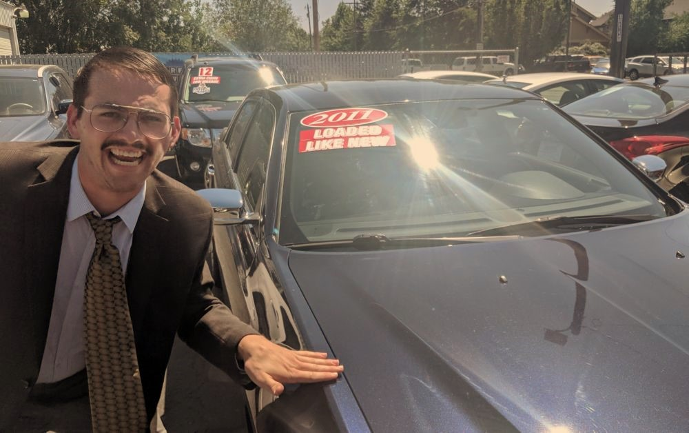 below average used car salesman