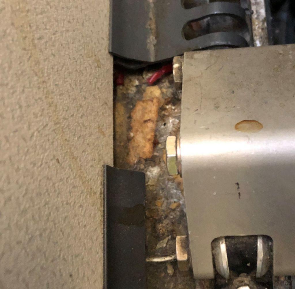 gross gunk in the delta seat rail