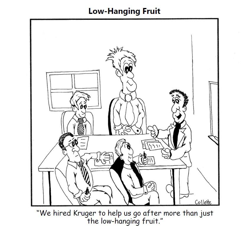 low-hanging fruit - annoying business sayings