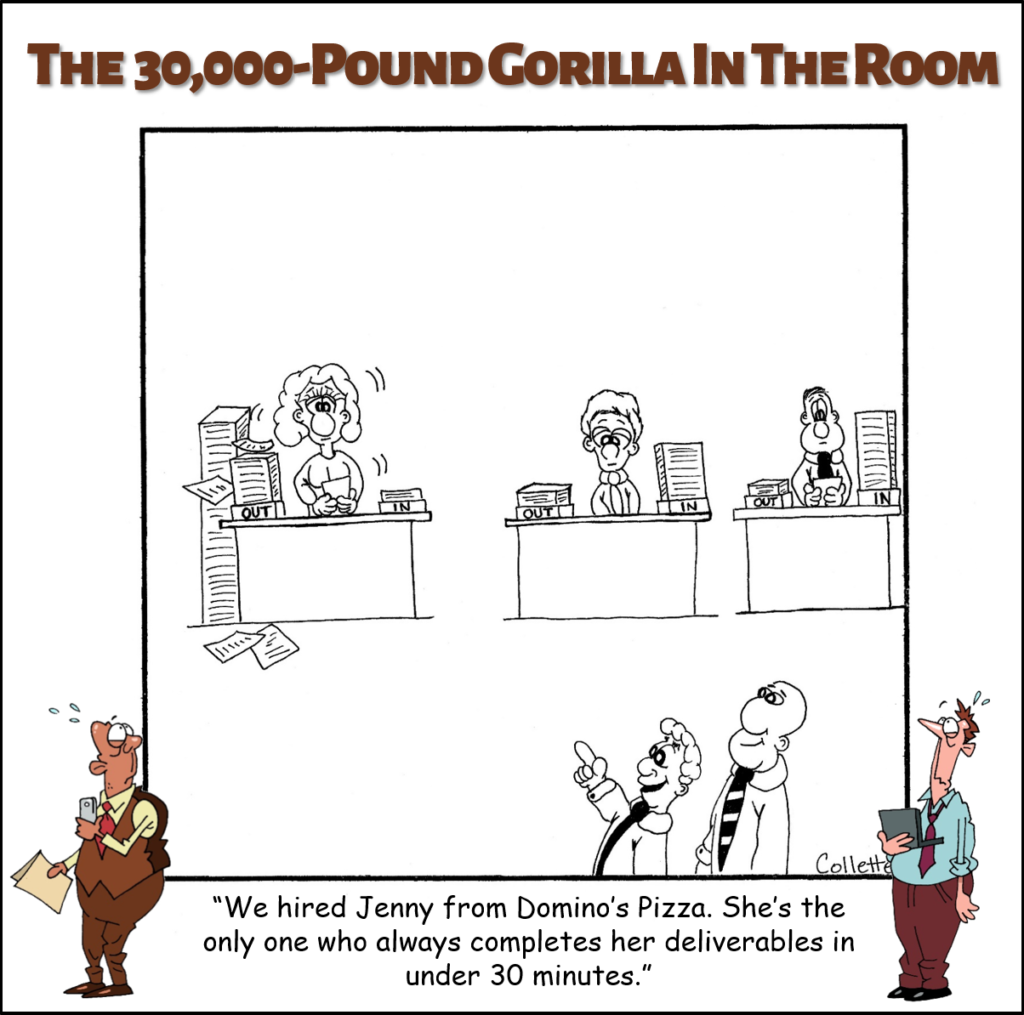 deliverables annoying business phrase cartoon