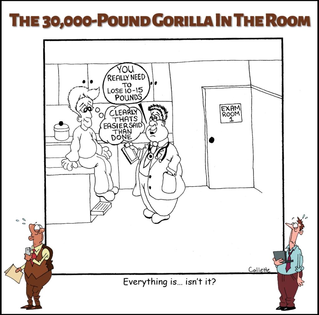 easier said than done cartoon annoying business phrase