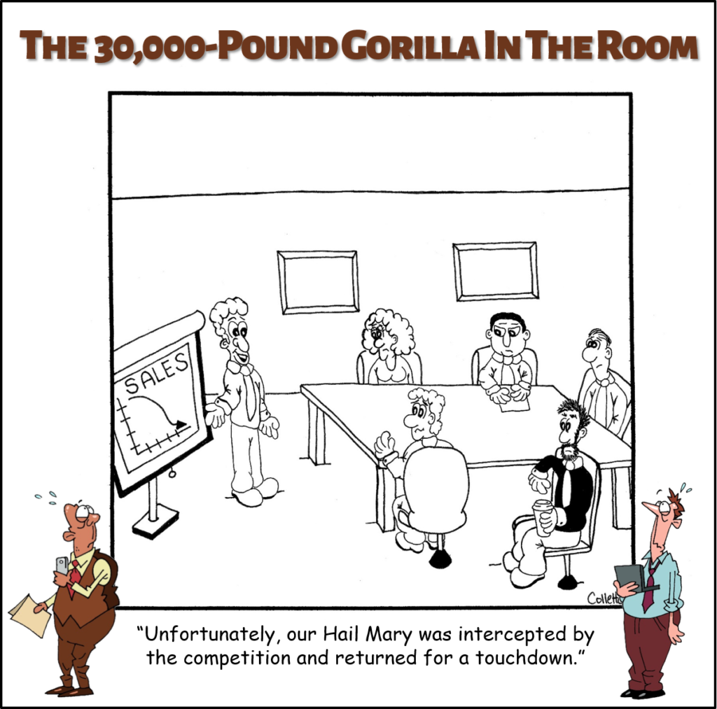hail mary annoying business term cartoon