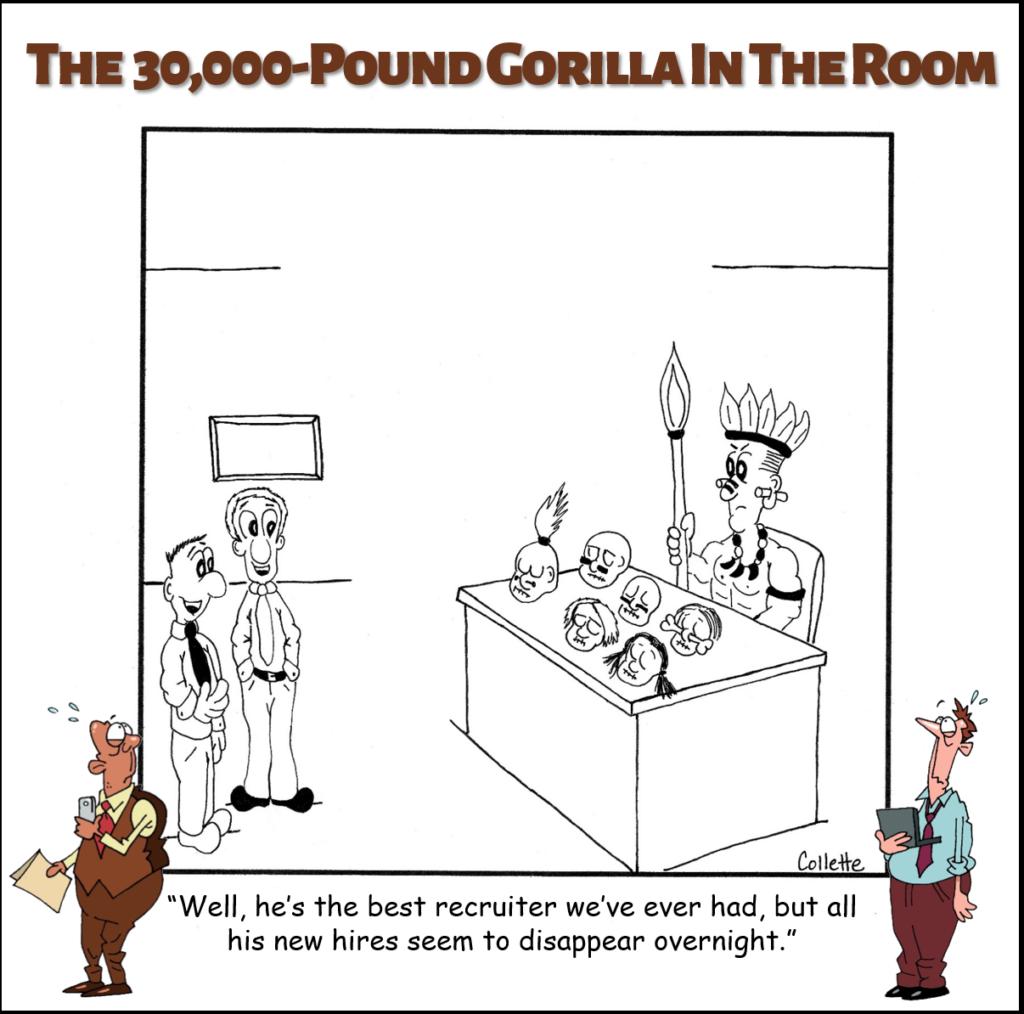 headhunter annoying business term cartoon