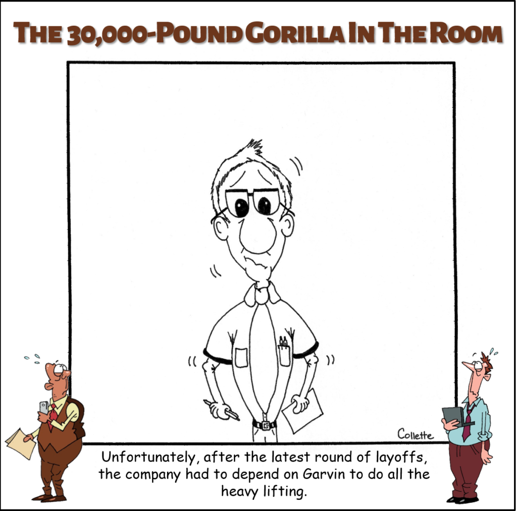 heavy lifting annoying business term cartoon