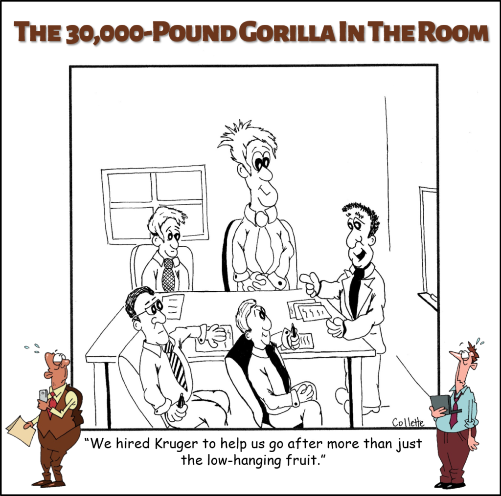 low-hanging fruit annoying business phrase cartoon