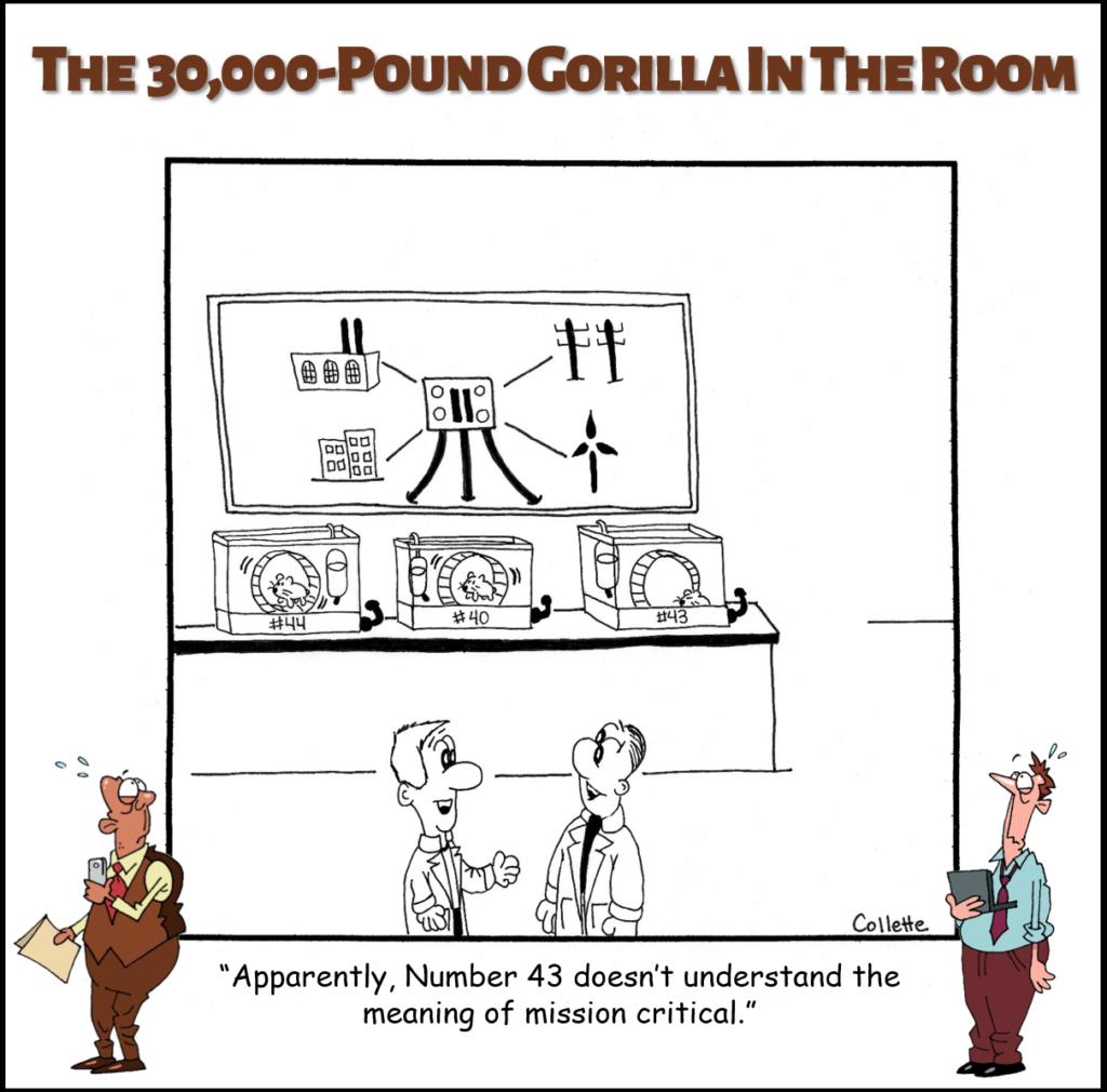mission critical annoying business term cartoon