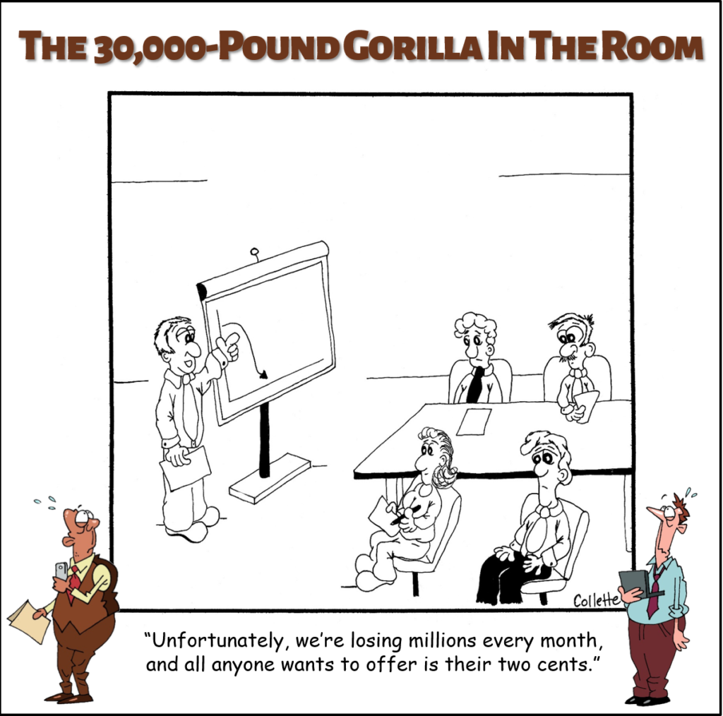 my two cents annoying business phrase cartoon