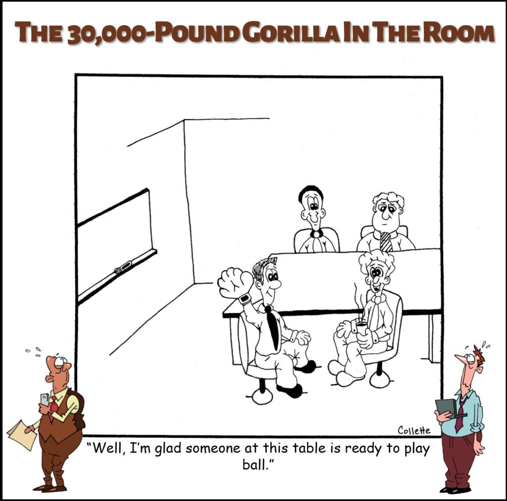 play ball annoying business phrase cartoon