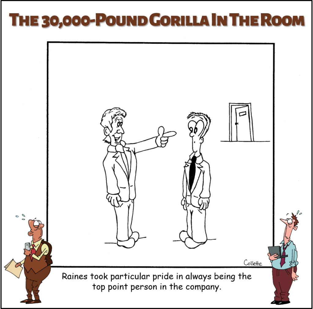 point person annoying business phrase cartoon