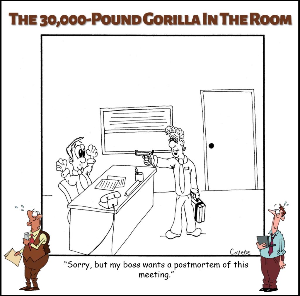 postmortem annoying business term cartoon