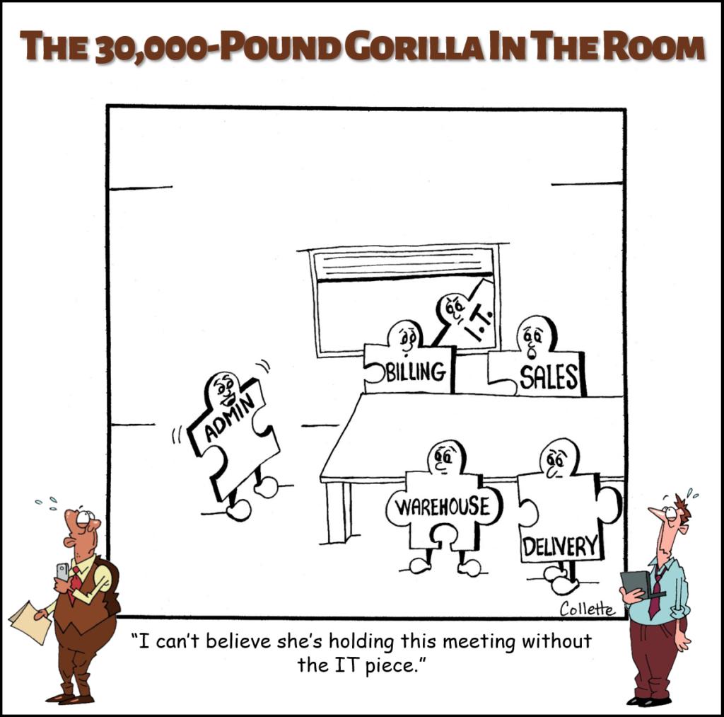 the (blank) piece annoying business phrase cartoon