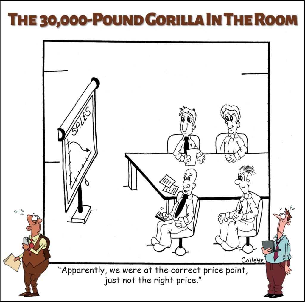 price point annoying business term cartoon