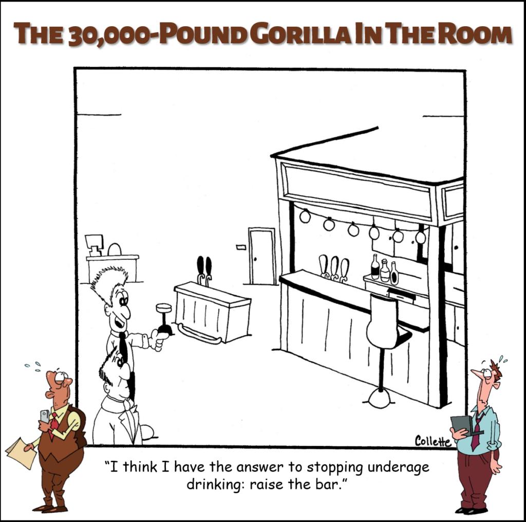 raise the bar annoying business term cartoon