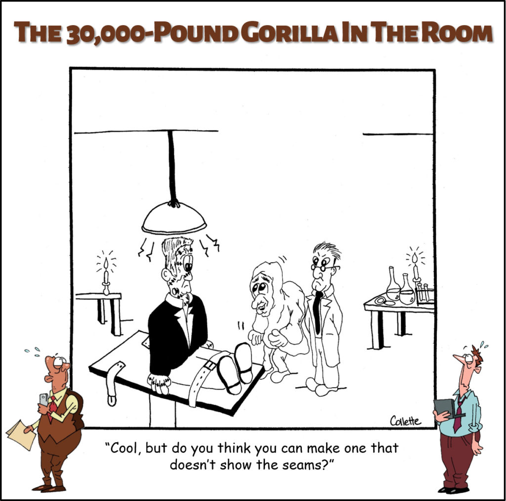 show the seams annoying business phrases cartoon