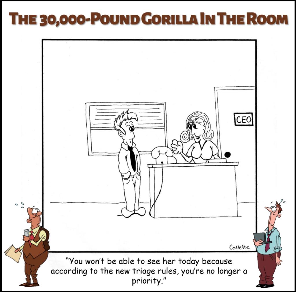 triage annoying business term cartoon