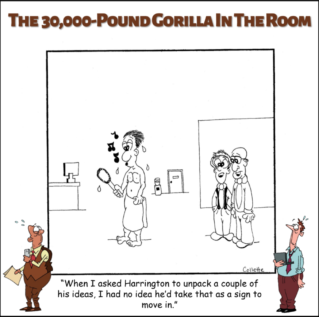 unpack annoying business term cartoon