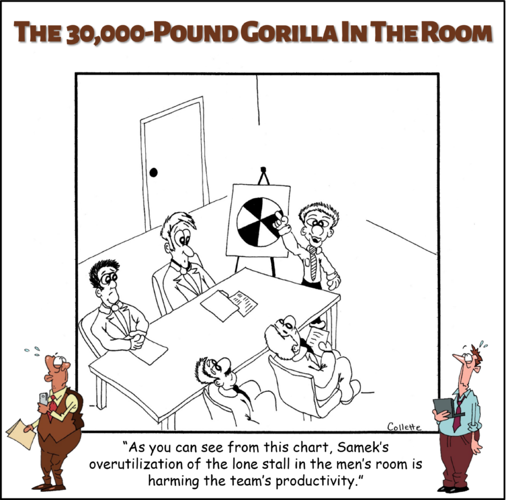 utilize utilization annoying business terms cartoon